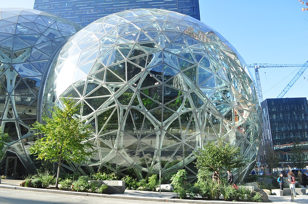 Amazon Spheres in Seattle at Amazon corporate headquarters
