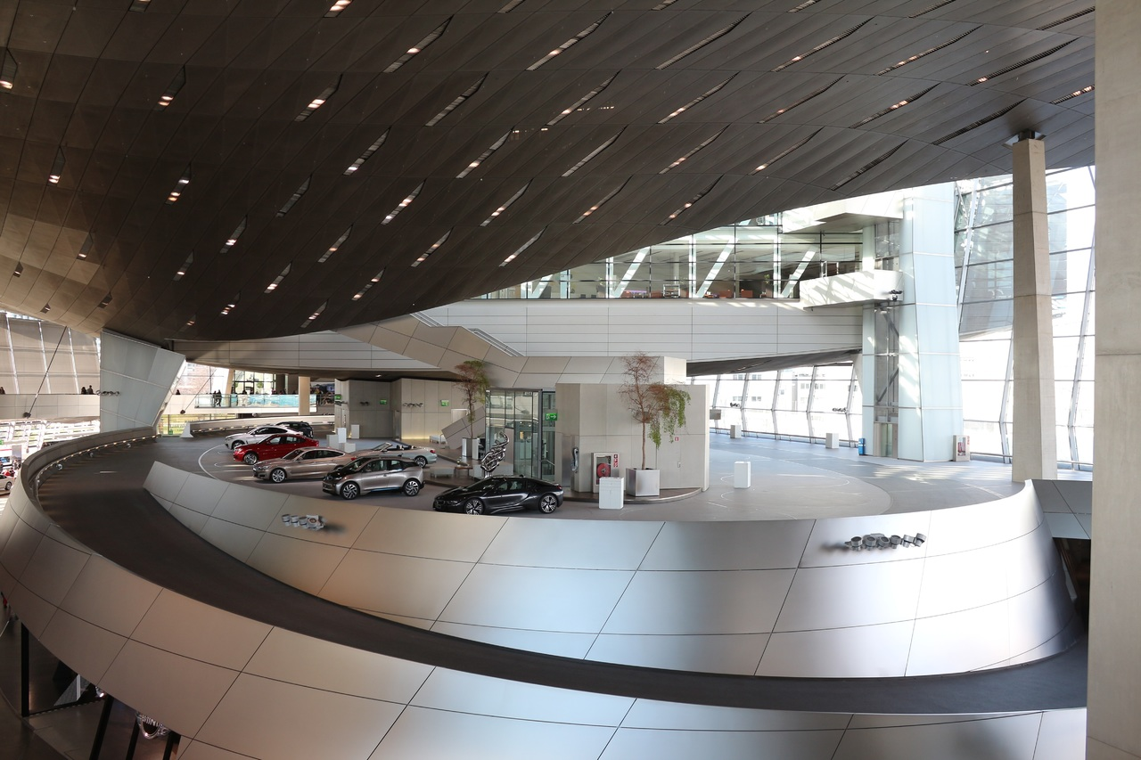 inside the BMW corporate headquarters