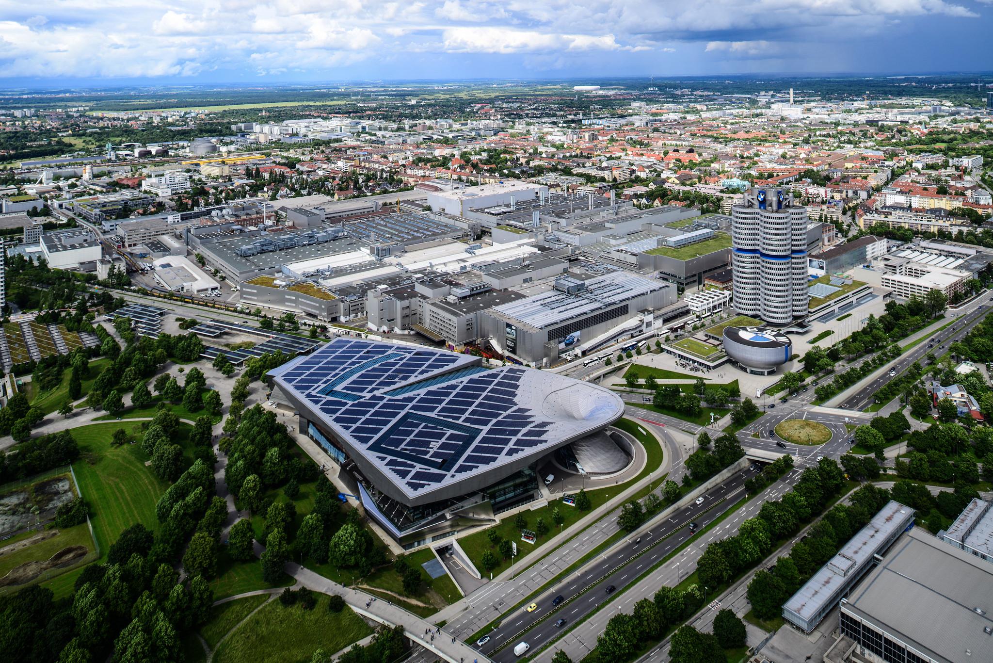 BMW headquarters aerial view