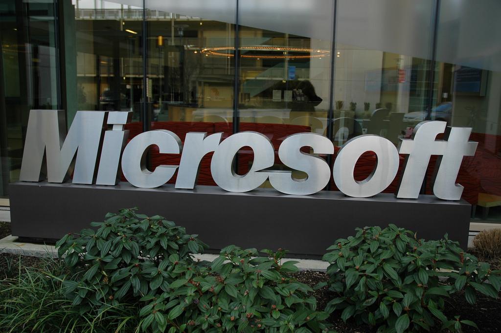 Microsoft corporate headquarters logo