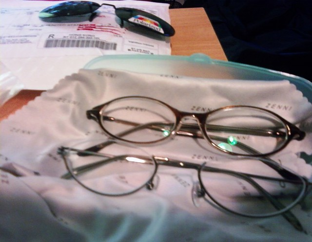 two eye glasses