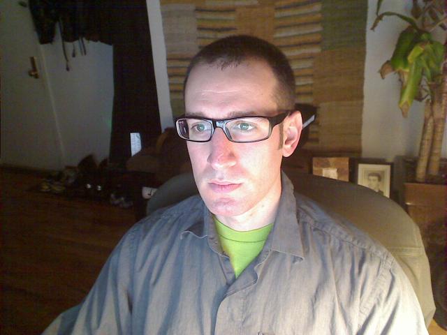 person wearing eye glasses