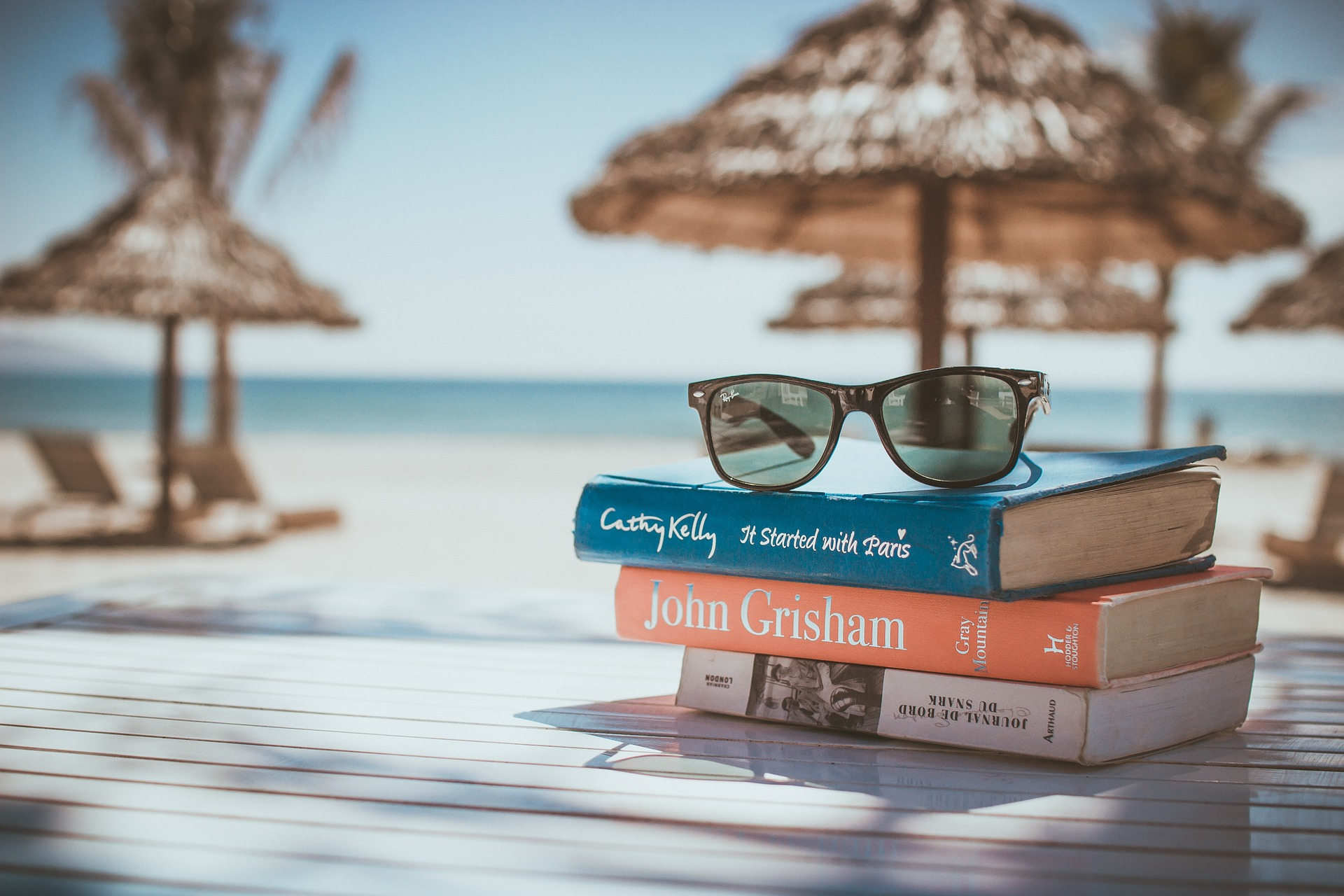 shades top on a books